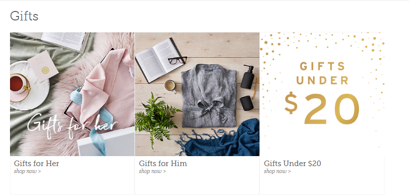 Adairs Gift Page
