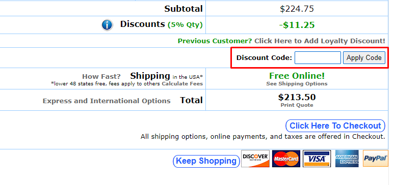 How do I use my Battery Ship discount code?