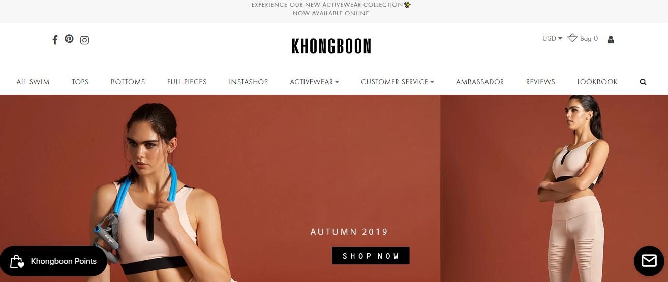 Khongboon Swimwear Homepage