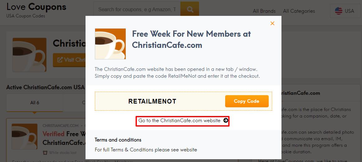 ChristianCafe.com Offer US