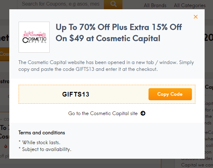 Go to Cosmetic Capital site
