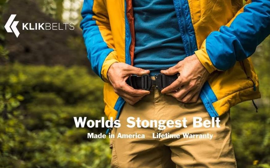 About Klik Belts homepage