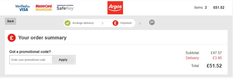 How do I use my Argos discount code?