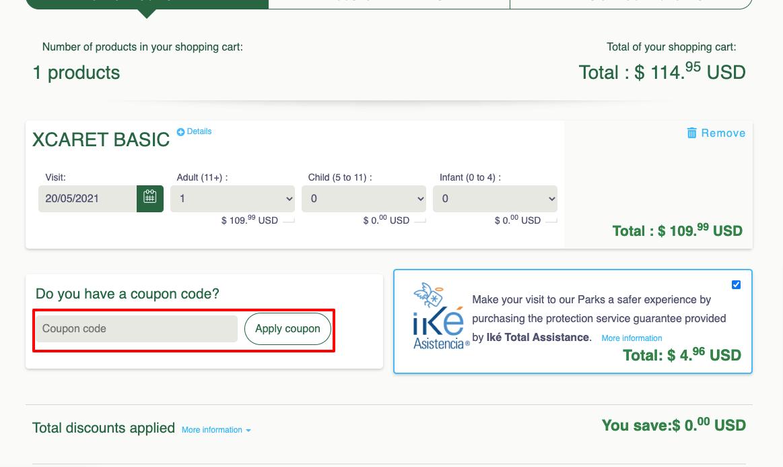 grupo xcaret coupon code