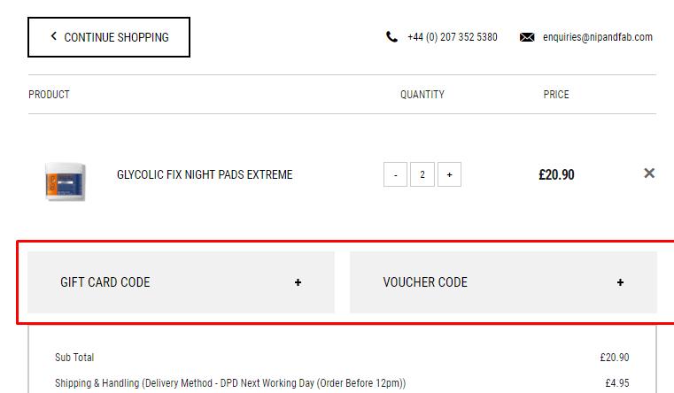 How do I use my NipandFab discount code?
