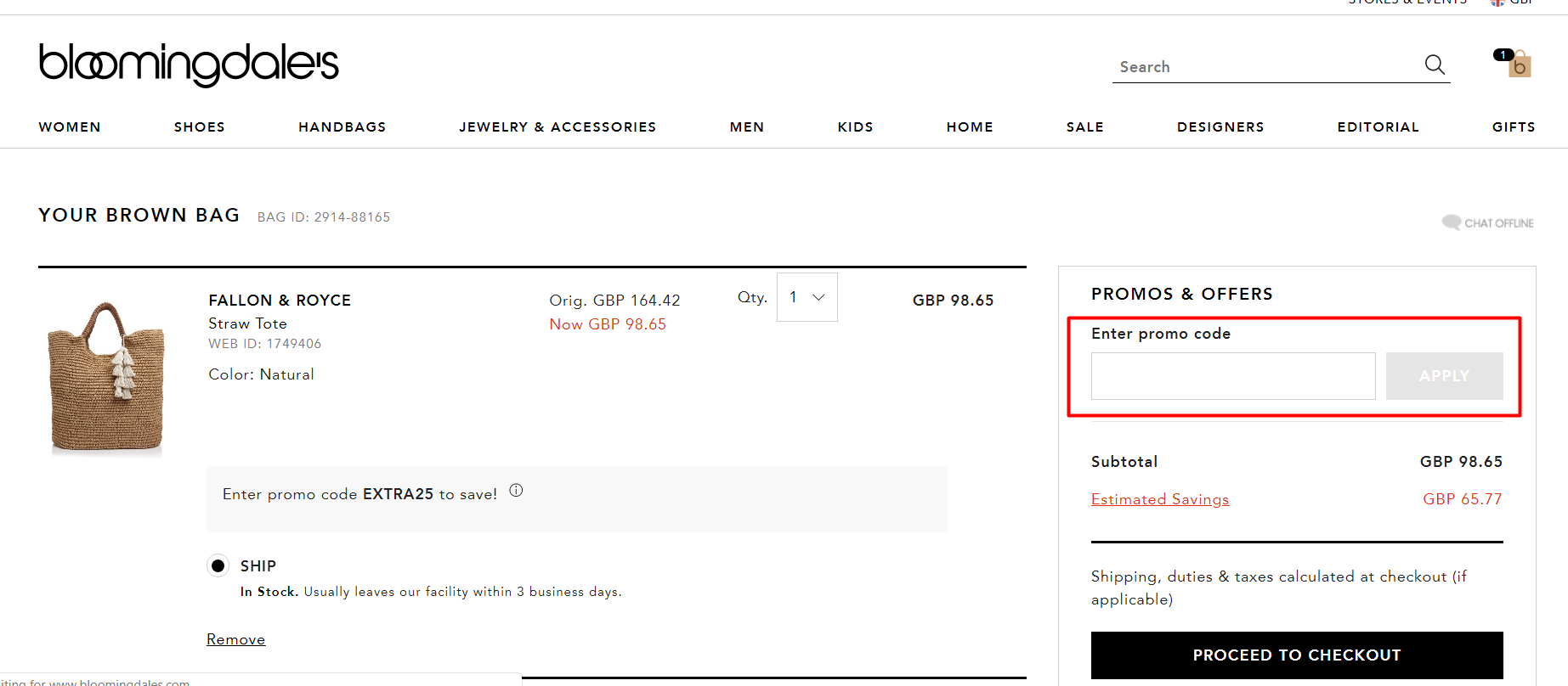 How do I use my Bloomingdale's discount code?