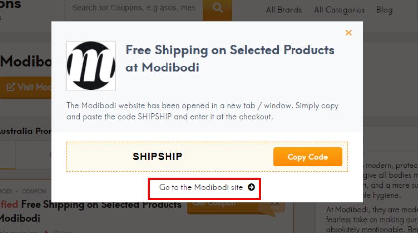 go to Modibodi site