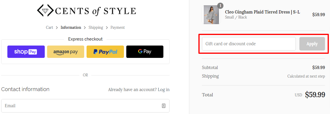 Checkout CentsOfStyle