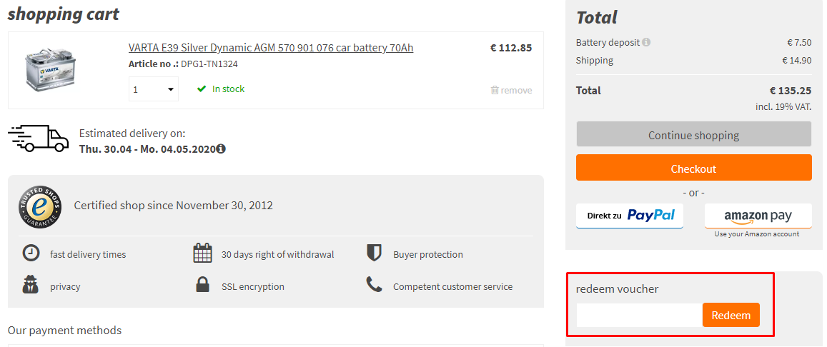 How do I use my autobatterienbilliger.de discount code?