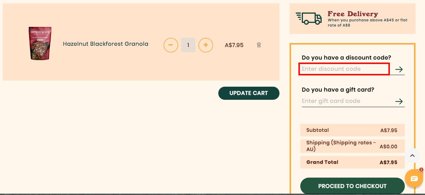 Amazin' Graze AU Discount Code
