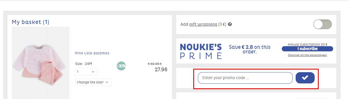 How do I use my Noukie's promo code?