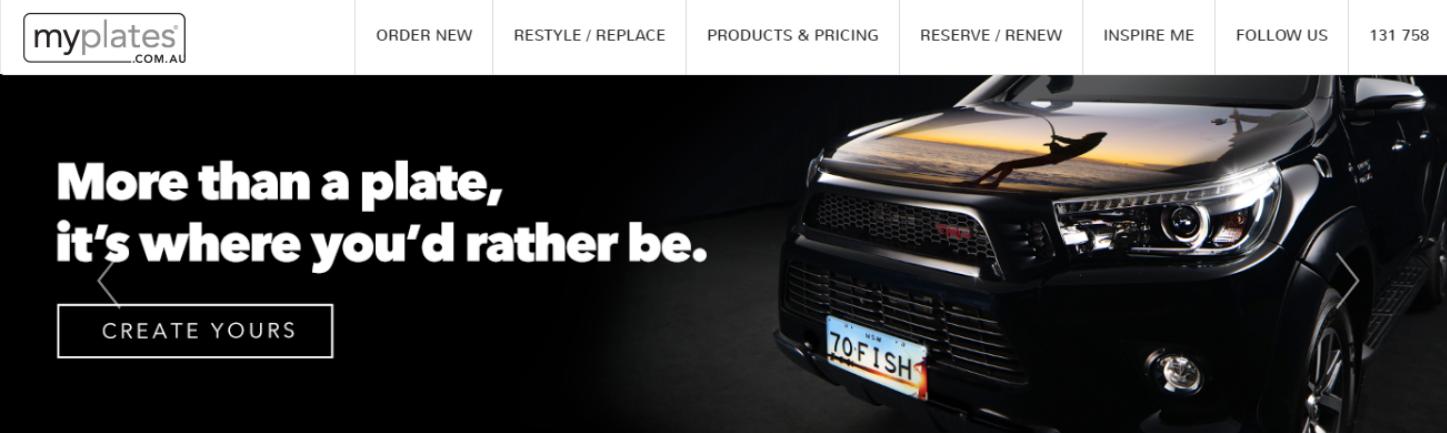 myPlates Homepage