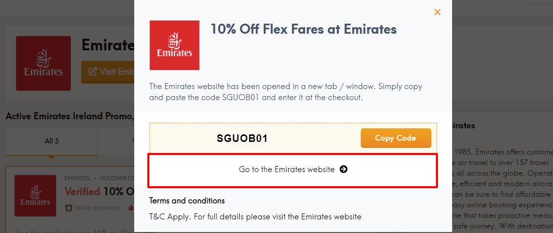 Emirates discount code