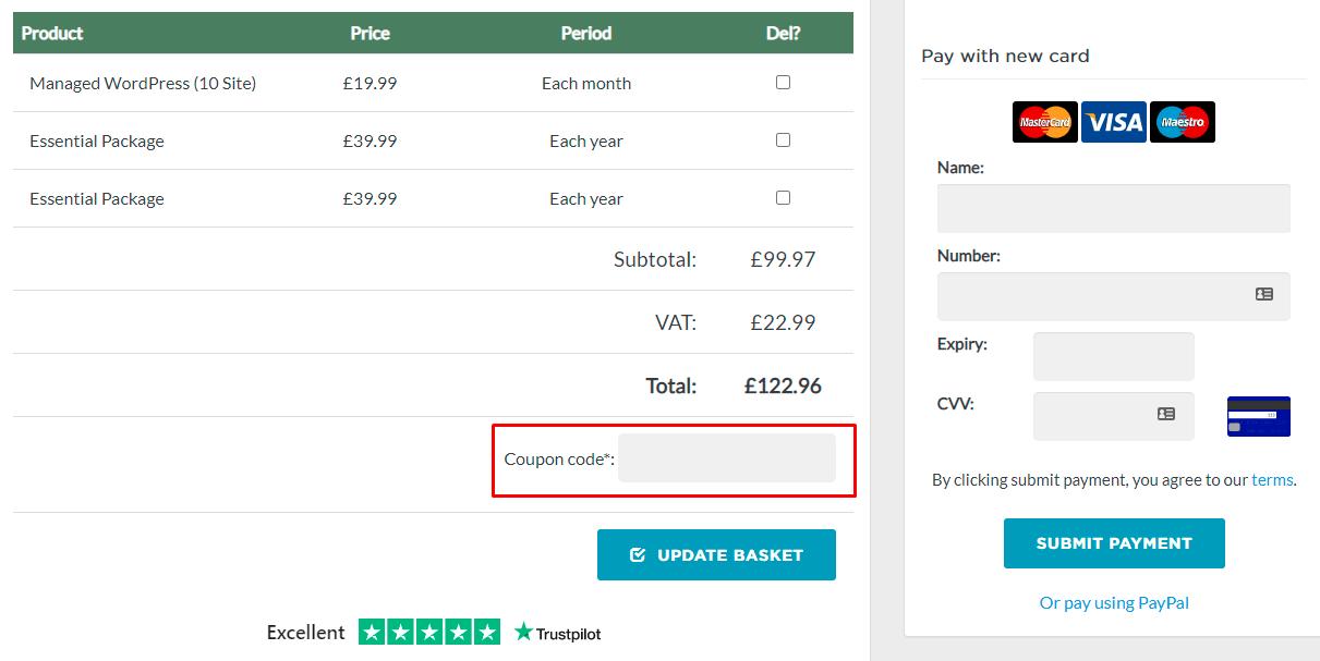 How do I use my Eco Web Hosting coupon code?