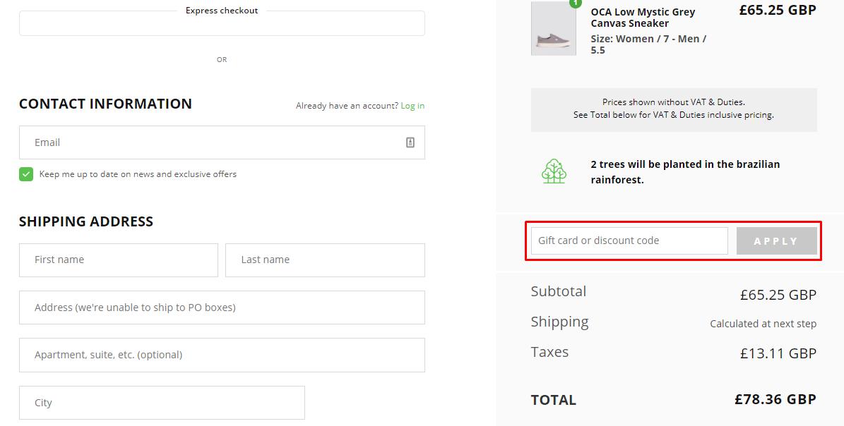 How do I use my Cariuma discount code?