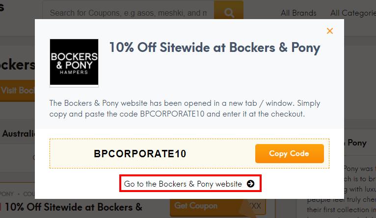 How do I use my Bockers & Pony discount code?