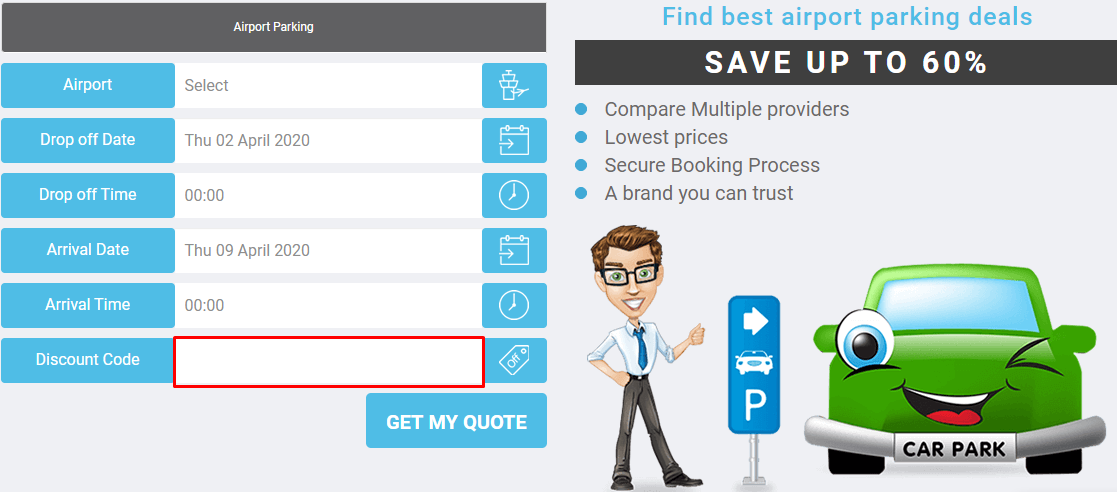 How do I use my Mobit Airport Parking coupon code?