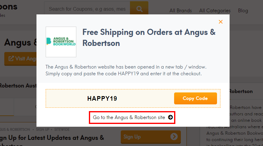 how to use Angus & Robertson discount code?