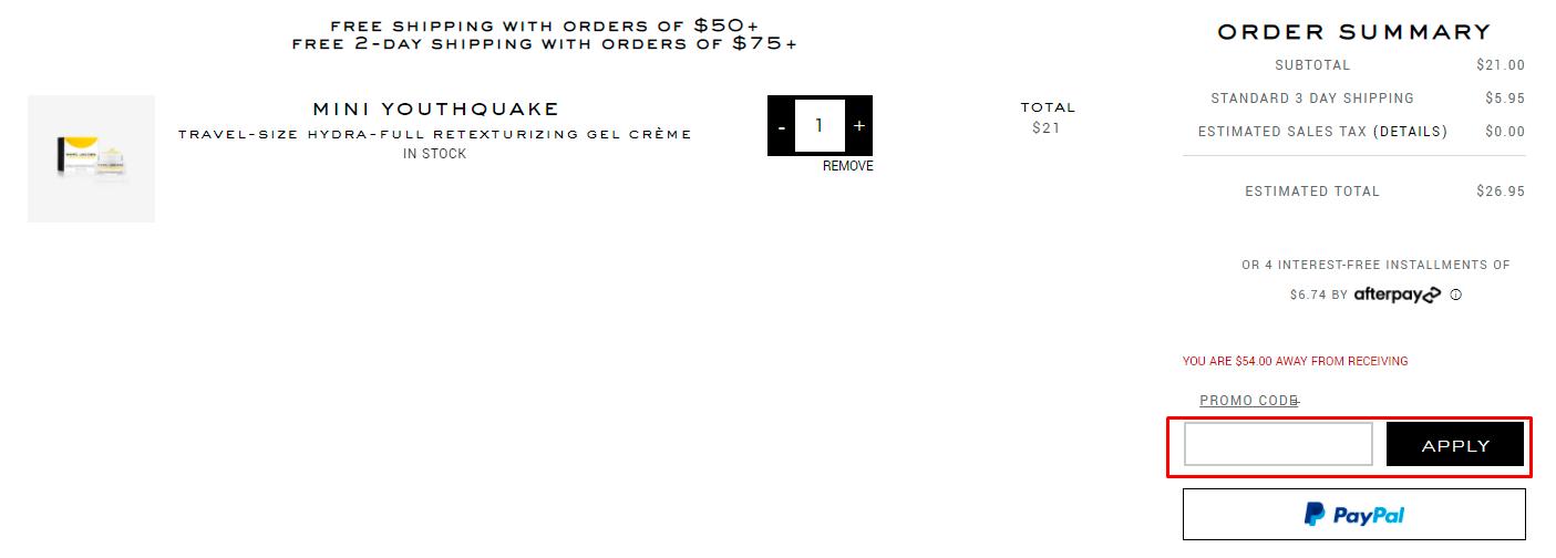 How do I use my Marc Jacobs Beauty promo code?