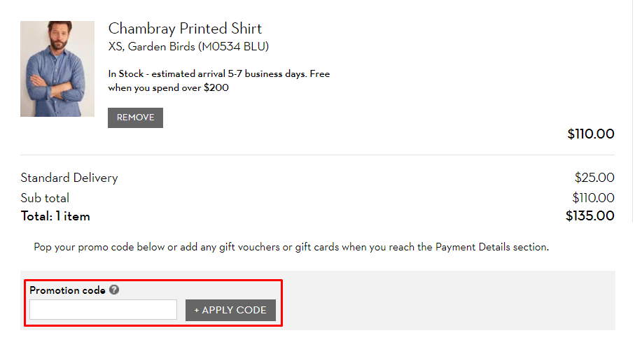 How do I use my Boden promotion code?