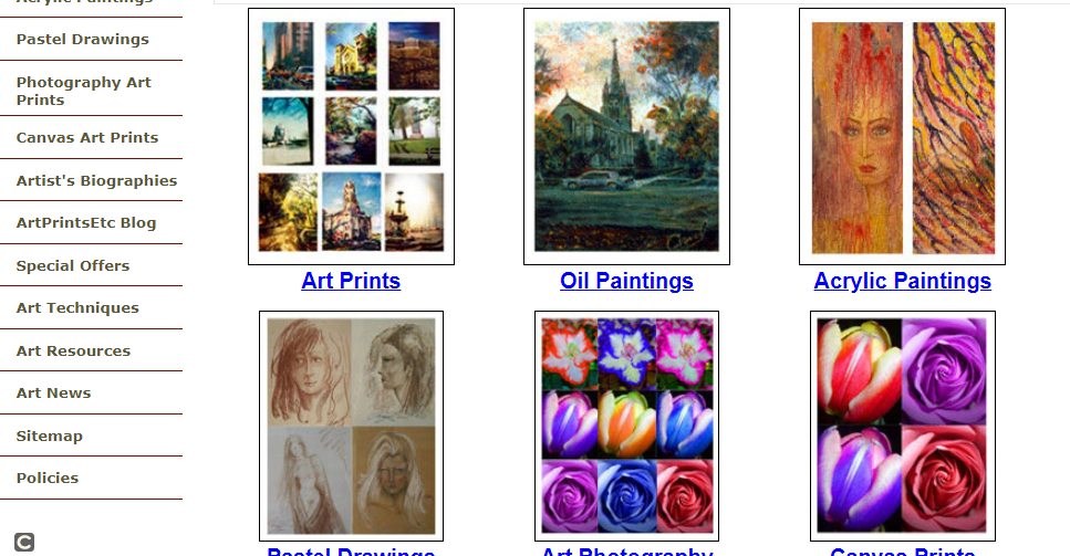 About Artprintsetc.com Homepage
