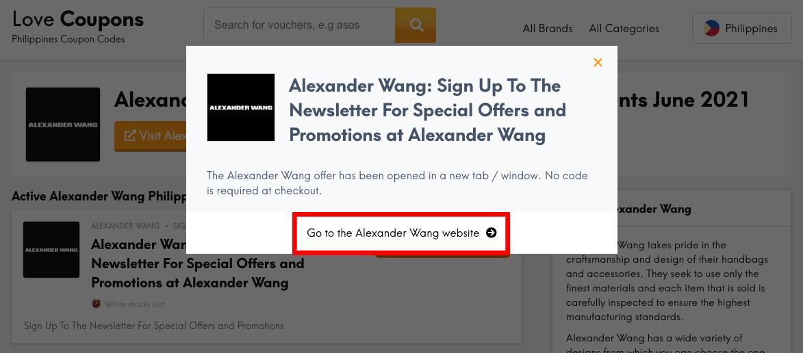 Alexander Wang PH Get Coupon