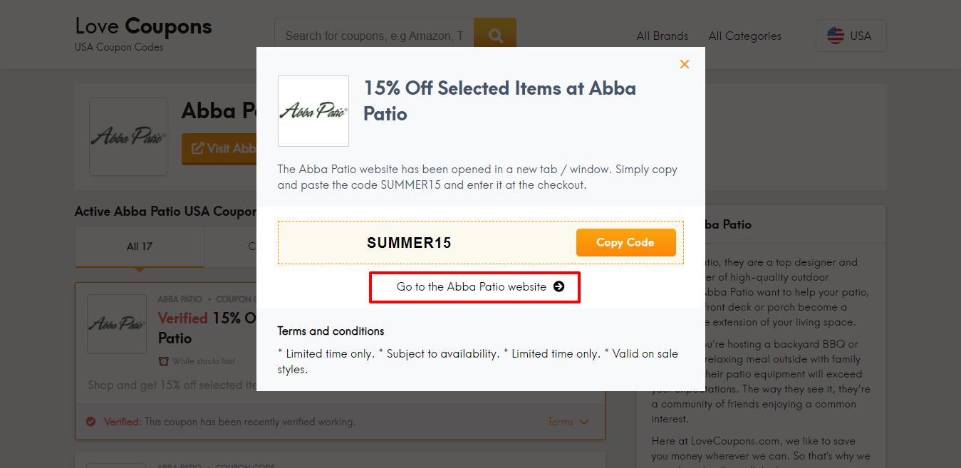 abba patio website