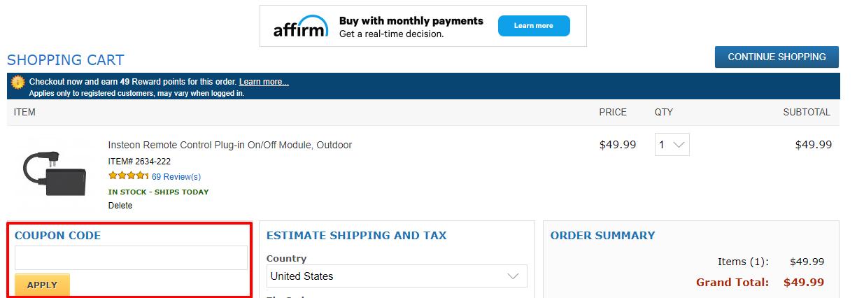 How do I use my Smarthome discount code?