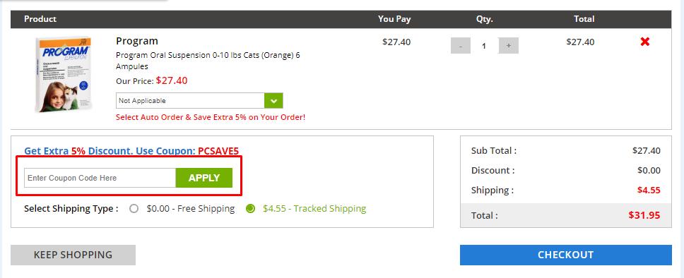 How do I use my PetCareSupplies discount code?