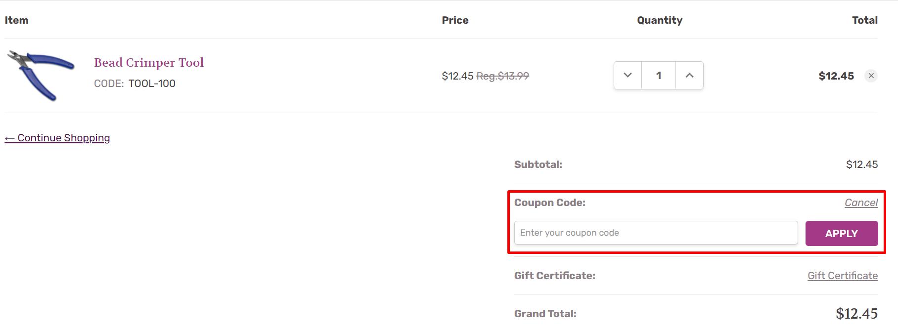 How do I use my Artbeads.com coupon code?