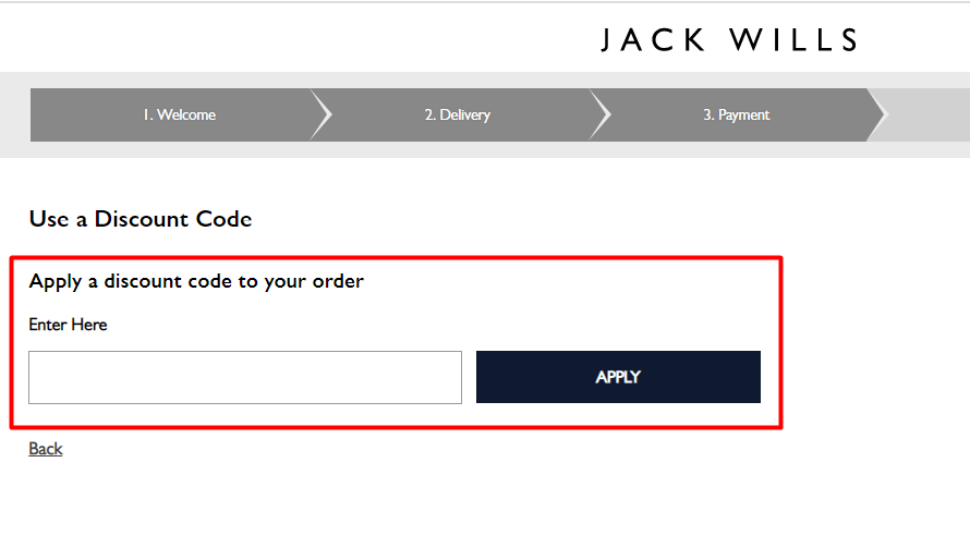 How do I use my Jack Wills discount code?