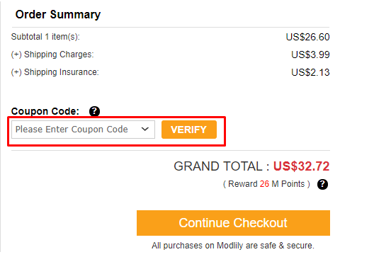 How do I use my Modlily discount code?