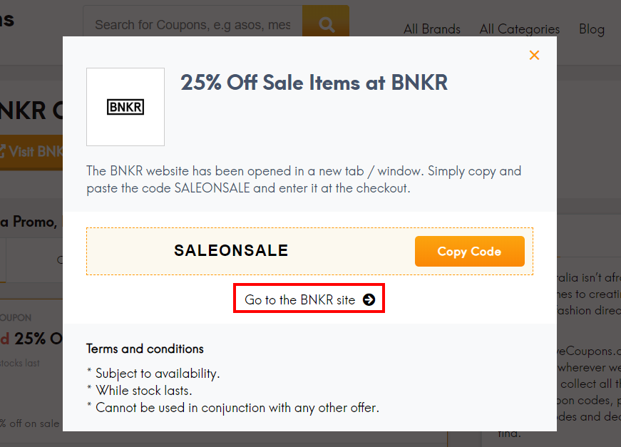 go to BNKR site
