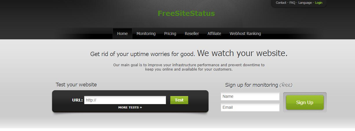 About FreeSiteStatus Homepage