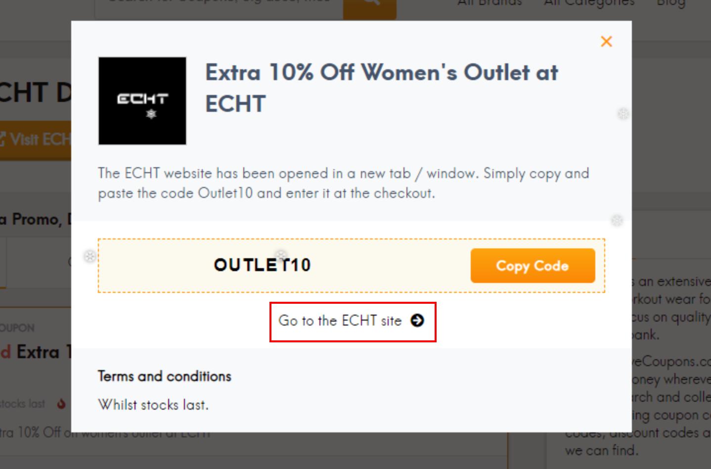 go to ECHT site