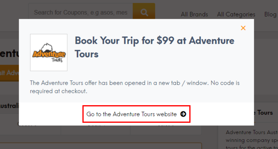 How do I use my Adventure Tours offer?