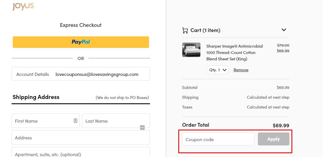 How do I use my Joyus coupon code?