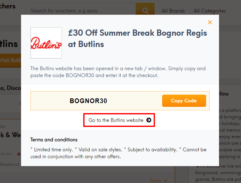 How do I use my Butlins discount code?