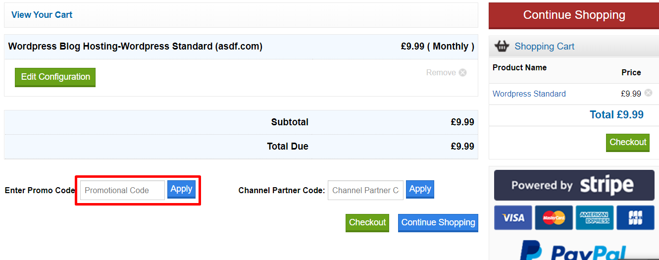 How do I use my eUKhost discount code?
