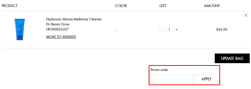 How do I use my Space NK promo code?