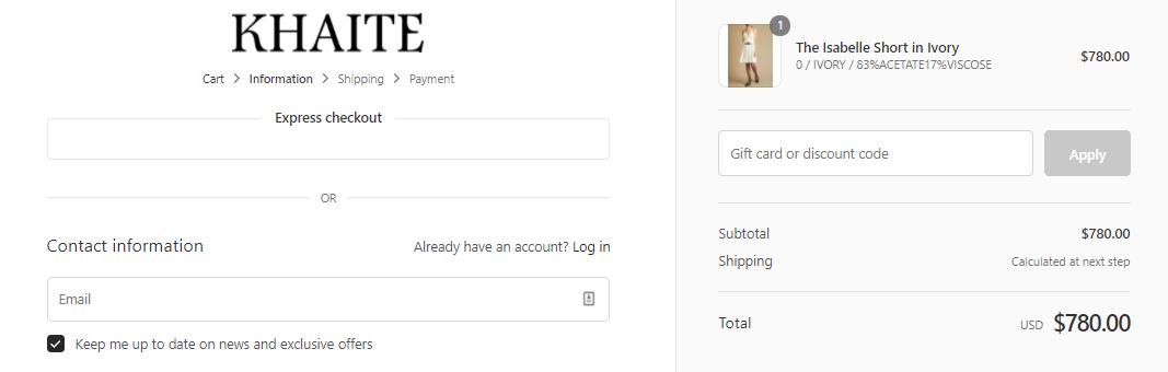How do I use my Khaite discount code?