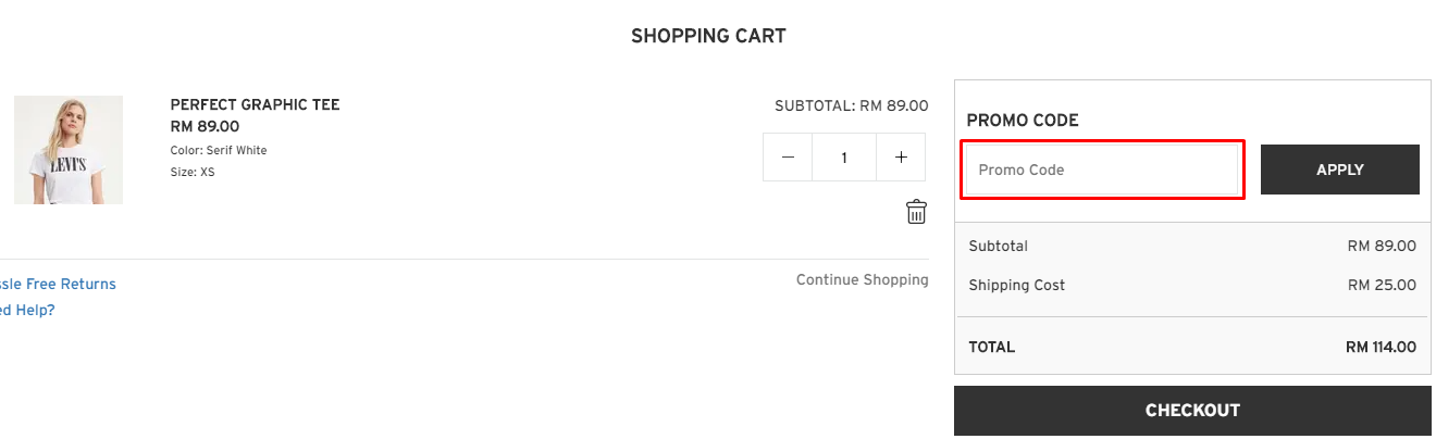 How do I use my Levis Promo code?