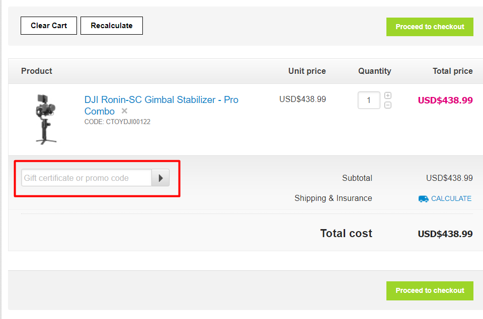 How do I use my eGlobal Central discount code?