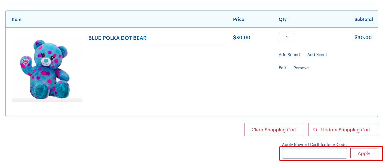 How do I use my Build-A-Bear coupon code?