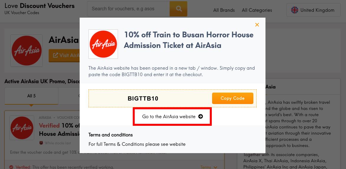 AirAsia UK Get Code