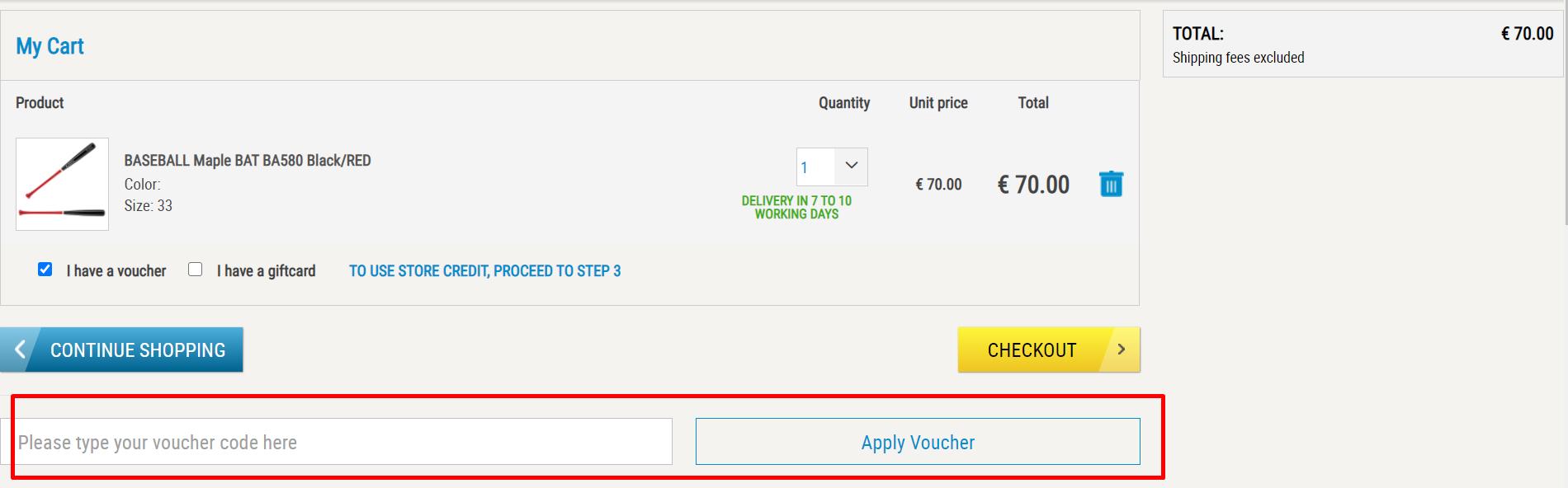 How do I use my Decathlon voucher code?