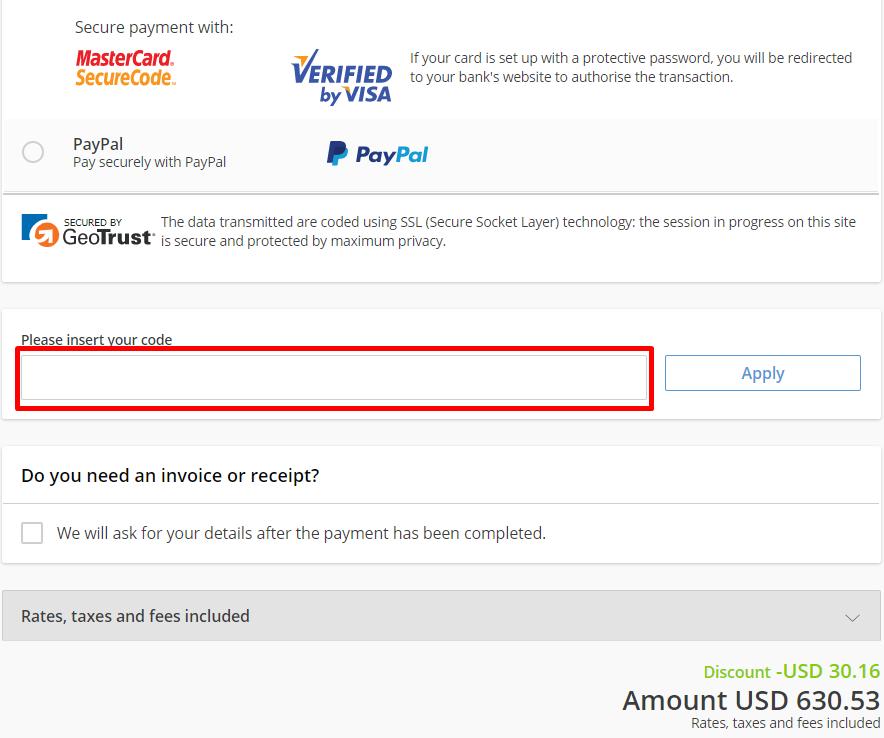 How do I use my Bravofly coupon code?