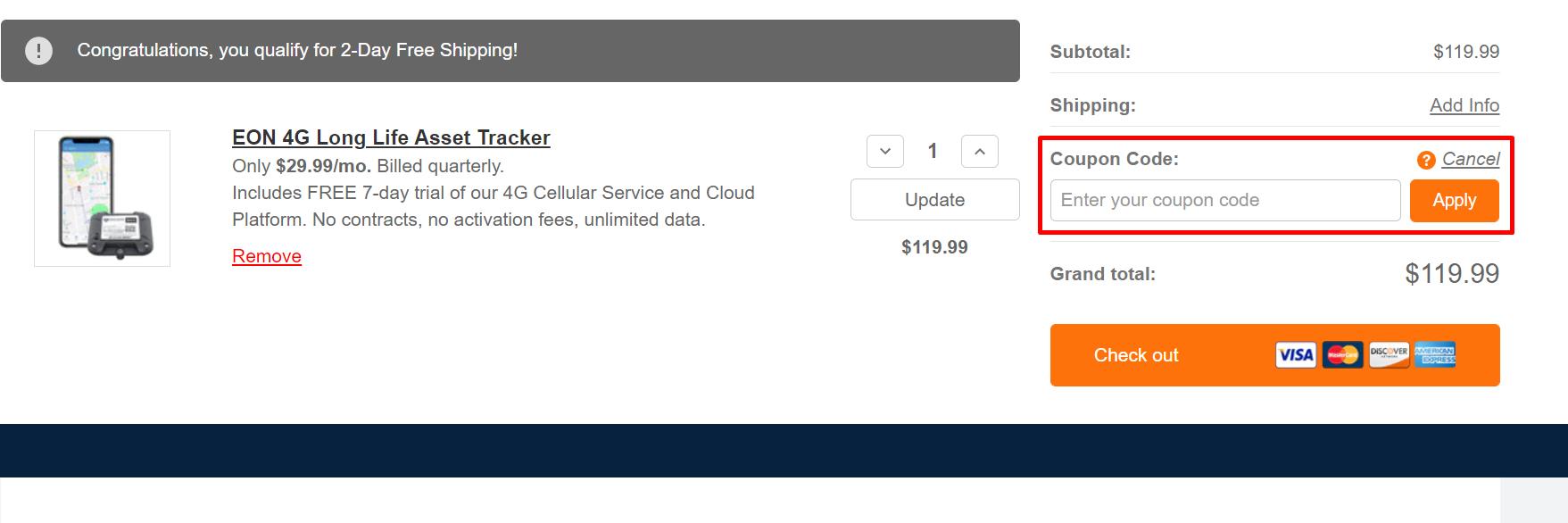 How do I use my BrickHouse Security coupon code?