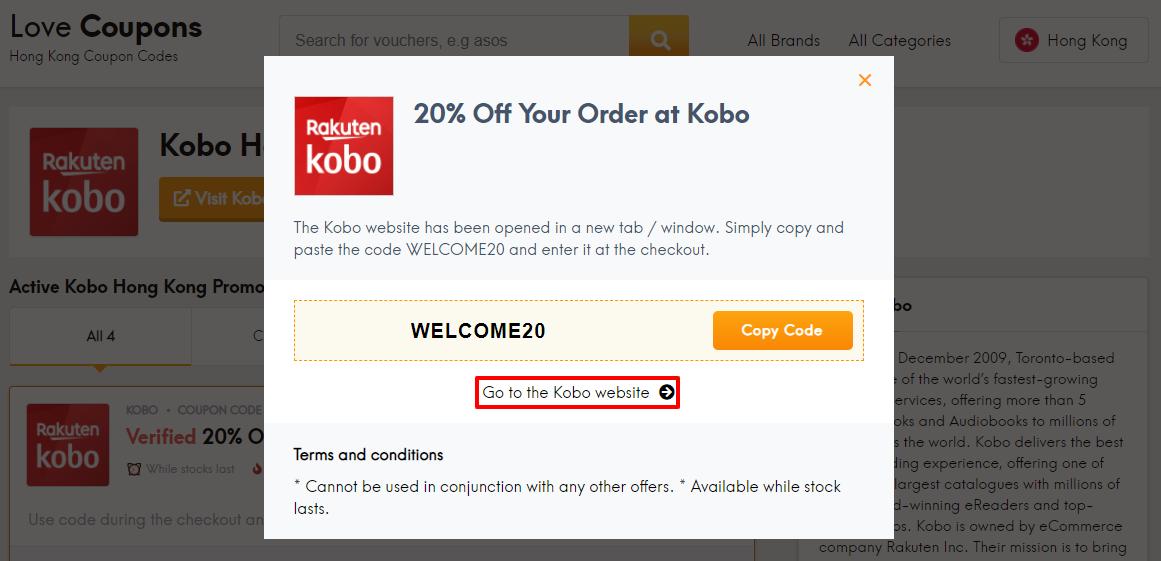 Kobo Offer HK