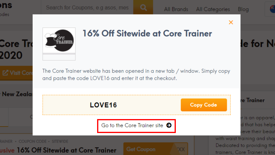 go to Core Trainer site